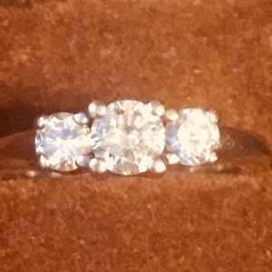 Vintage Diamond Present Past & Future Ring